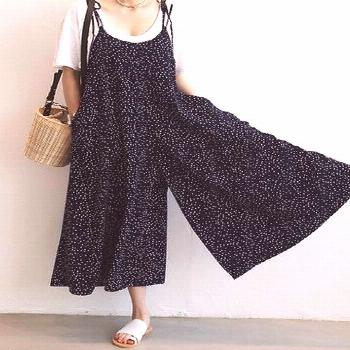 Amazing Casual Women Loose Dot Spaghetti Strap Jumpsuits on Newchic, there is al... -  Amazing Casu