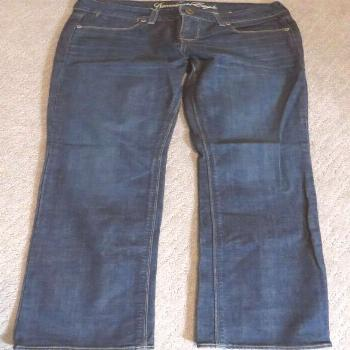 AMERICAN EAGLE AE 77 Straight Cotton Spandex Medium Wash Jeans Women's 6 Regular