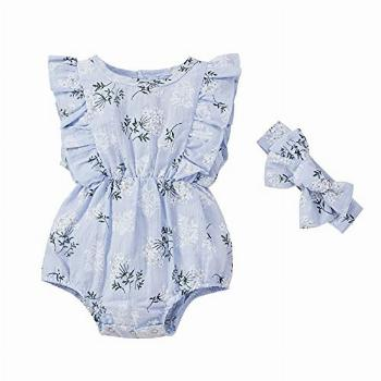 Baby Girl Floral Romper One Piece Bodysuit Summer Casual