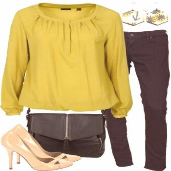 Brilliant Viridian Outfit includes Esprit Collection Levis and RMK at Birdsnest Women's Clothing