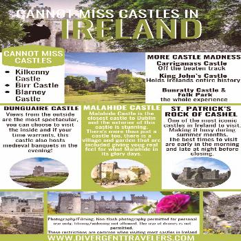 Cannot miss castles in Ireland It goes without saying that no matter how you shake it, your trip to