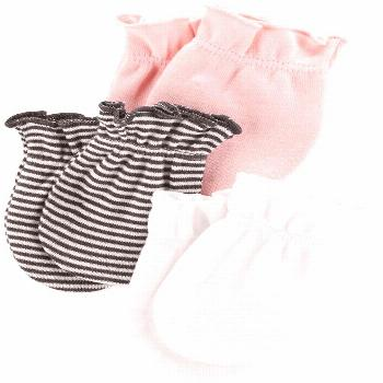 Carter's Baby Girls 3-Pack Cotton Mittens