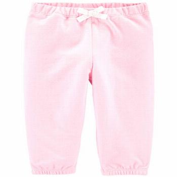 Carter's Baby Girls Pull-On Cotton French Terry Pants - Pink