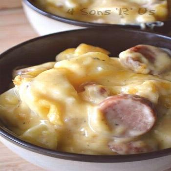 Casserole Ideas | Cheesy Potato & Smoked Sausage Casserole Cheesy Potato & Smoked Sausage Casserole