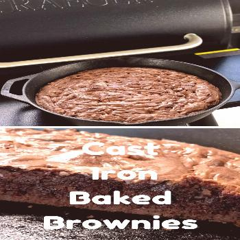 Cast Iron Baked Brownies - Slow Poke Cooking