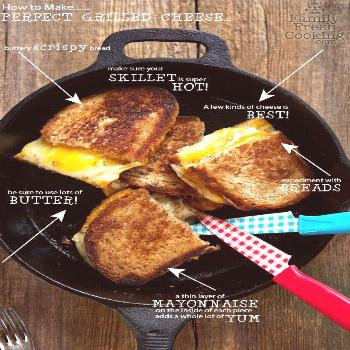 CAST IRON SKILLET GRILLED CHEESE Sometimes simple is best. Actually around here simple is pretty mu