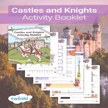 Castles and Knights Activity Booklet.  If your child loves Knights and Castles, why not get them le