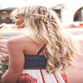 casual hairstyles messy accent braid braided hairstyle blonde hair  ... casual hairstyles messy acc