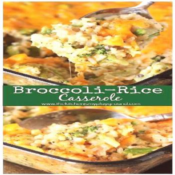Cheesy Broccoli-Rice Casserole ~ A perfectly tasty side dish for Easter, Thanksgiving, Christmas, o