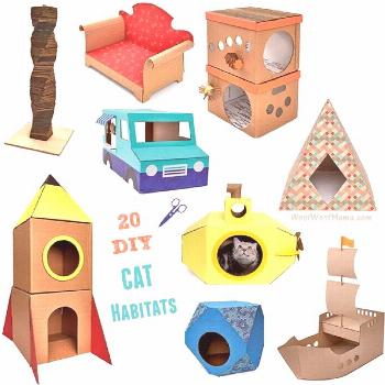 DIY Cat Castles: 20 Cardboard Habitats You Can Build Yourself   Woof Woof Mama - -  Looking for a g