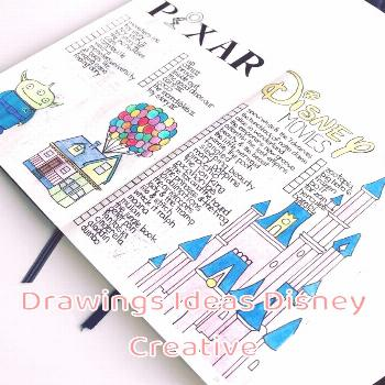 Drawings Ideas Disney Creative 37 Imagination Inspiring Disney Bullet Journal Spreads | My Inner Cr