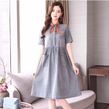 Dress Women Summer Dress Casual cowboy Dresses Pocket loose comfortable Women Dress female elegant