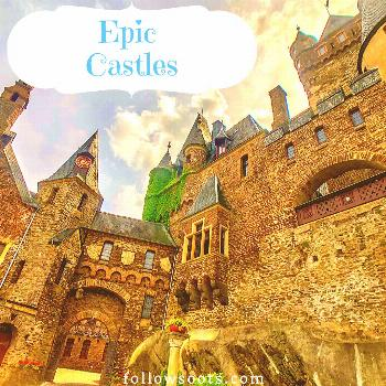 Epic Castles Board Graphic Searching for the most beautiful castles in the world? Find them here wi