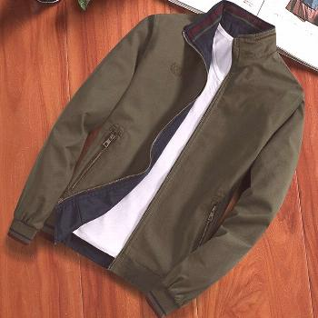 European Style 2020 Spring Autumn New Men Reversible Cotton Jacket, Male High Quality Casual Long S