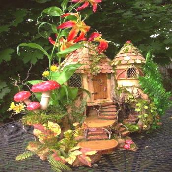 Fairy House. Love the steps!!! garden ideas castles Log In or Sign Up to ...#castles