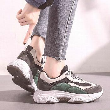 Female Platform Sneakers Chunky Casual Women Shoes Vulcanized Sneakers for Women Lace Up Spring Lad