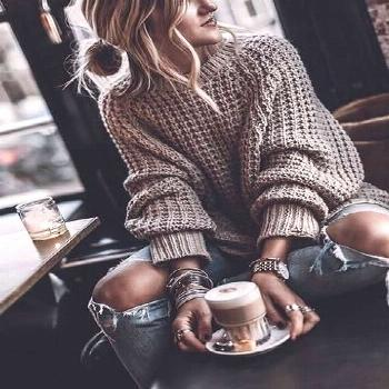 Grey Plain Long Sleeve Casual Fashion Going out Pullover Sweater - Going out outfits -