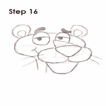 How to Draw Pink Panther Step 16