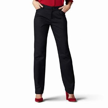 Lee Womens Wrinkle Free Relaxed Fit Straight Leg Pant,