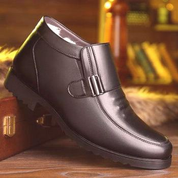 Men Plush Lining Casual Leather Boots Men