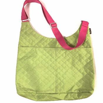 Milano Series Large Tote Messenger Crossbody Bag Pink Lime Green Carryall