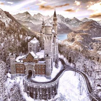 Neuschwanstein Castle This was an inspiration for Disney's Sleeping Beauty castle and it's some