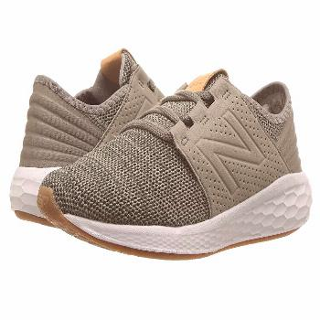 New Balance Kids KJCRZv2P Knit (Little Kid) (Military Foliage Green/Rosin) Boys Shoes. New Balance