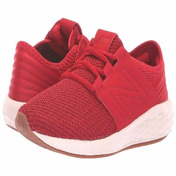 New Balance Kids KJCRZv2P Nubuck (Little Kid) (Mercury Red/Chilli Pepper) Boys Shoes. New Balance K