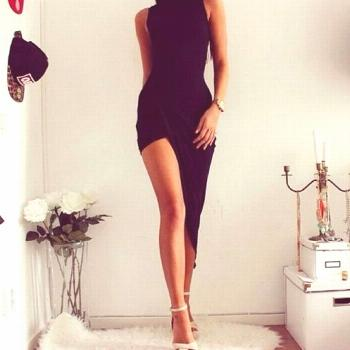 Outfit New JUKPOP.COM 2020 Fashion Women Sleeveless Summer Dress Black Bodycon Slim Bandage Party D