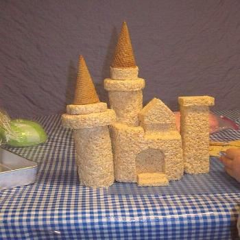 Princess Castle Cake - Step 4 | Pre-build of the individual … | Flickr