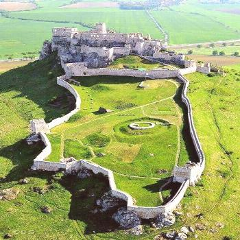 Spiš Castle - Check out the extensive grounds at this Slovakian castle! All walled, too - a full o