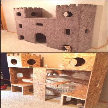 Take a look at these lovely castles pet owners have DIY-ed for their cats, and b...#castles