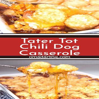 Tater Tot Chili Dog Casserole Tater Tot Chili Dog Casserole is everything you want comfort food to