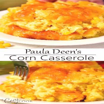 This easy corn casserole recipe from Paula Deen requires a box of Jiffy mix and 5 other simple ingr