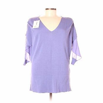 Valentino Roma Casual Dress - Shift: Purple Solid Dresses - Used - Size 42 - -