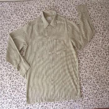 vintage towncraft plus penneys long sleeve penn-pres M checkered 15-15.5