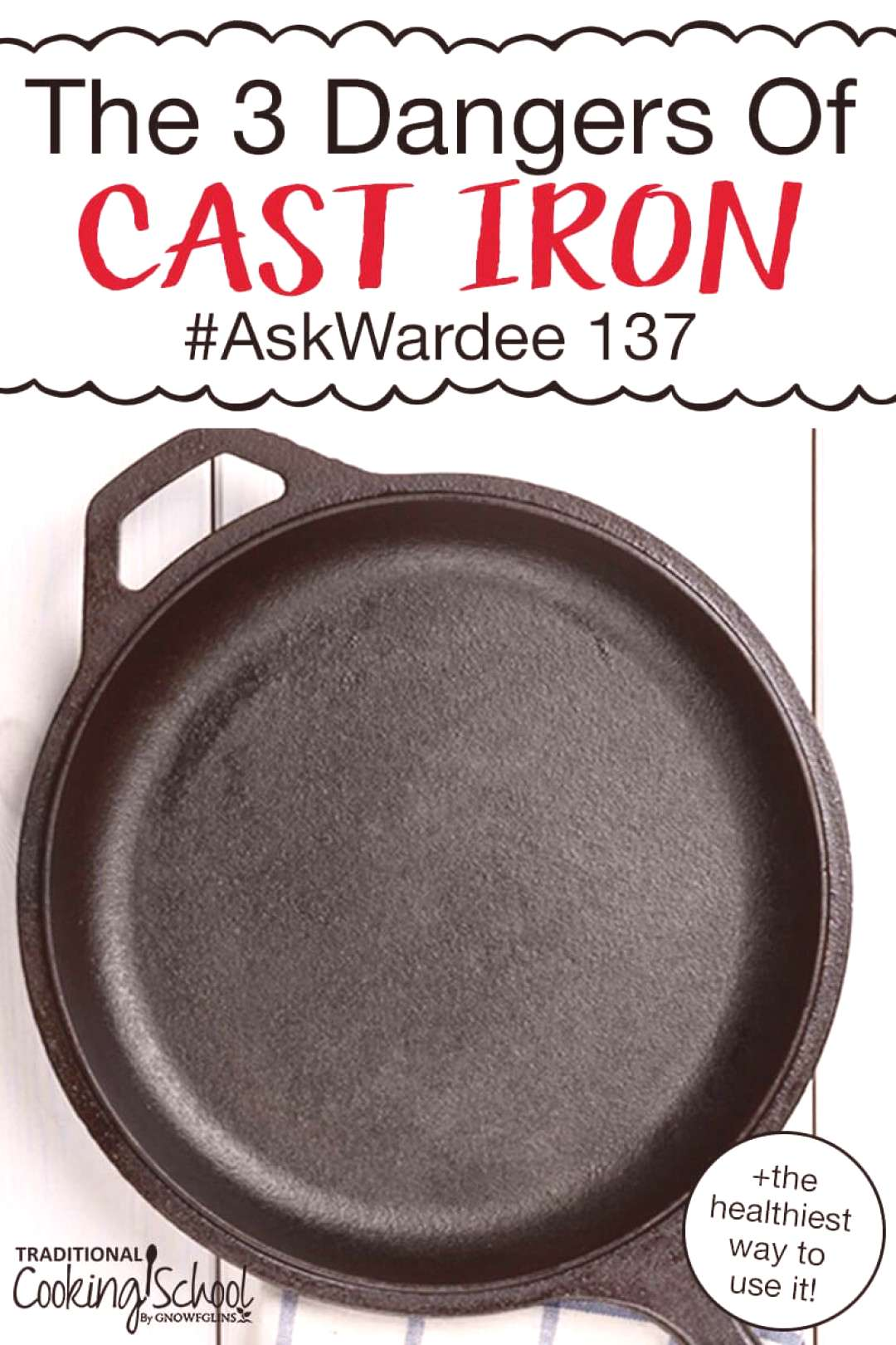 A cast iron skillet is arguably a traditional cook's best friend! But is there lead or other heavy