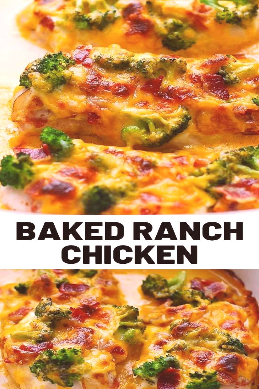 Baked Ranch Chicken with Broccoli and Bacon This easy Baked Ranch Chicken with Broccoli and Bacon i