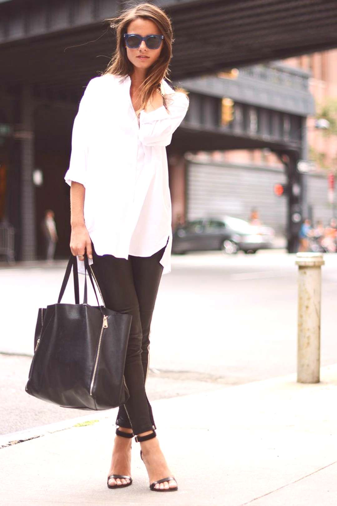 Casual chic black amp white outfit for summer hairstyle 2019-#amp Casual chic black amp white outfit fo