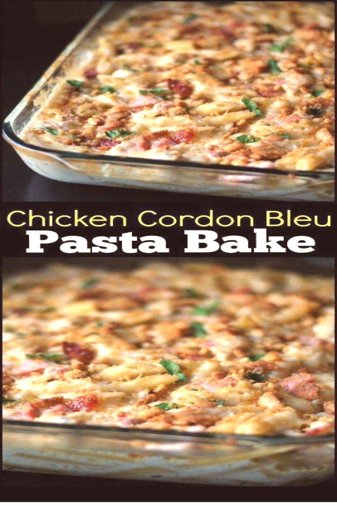 Chicken Cordon Bleu Pasta By  I fried 2 diced chicken breast in a little bit of butter for this rec