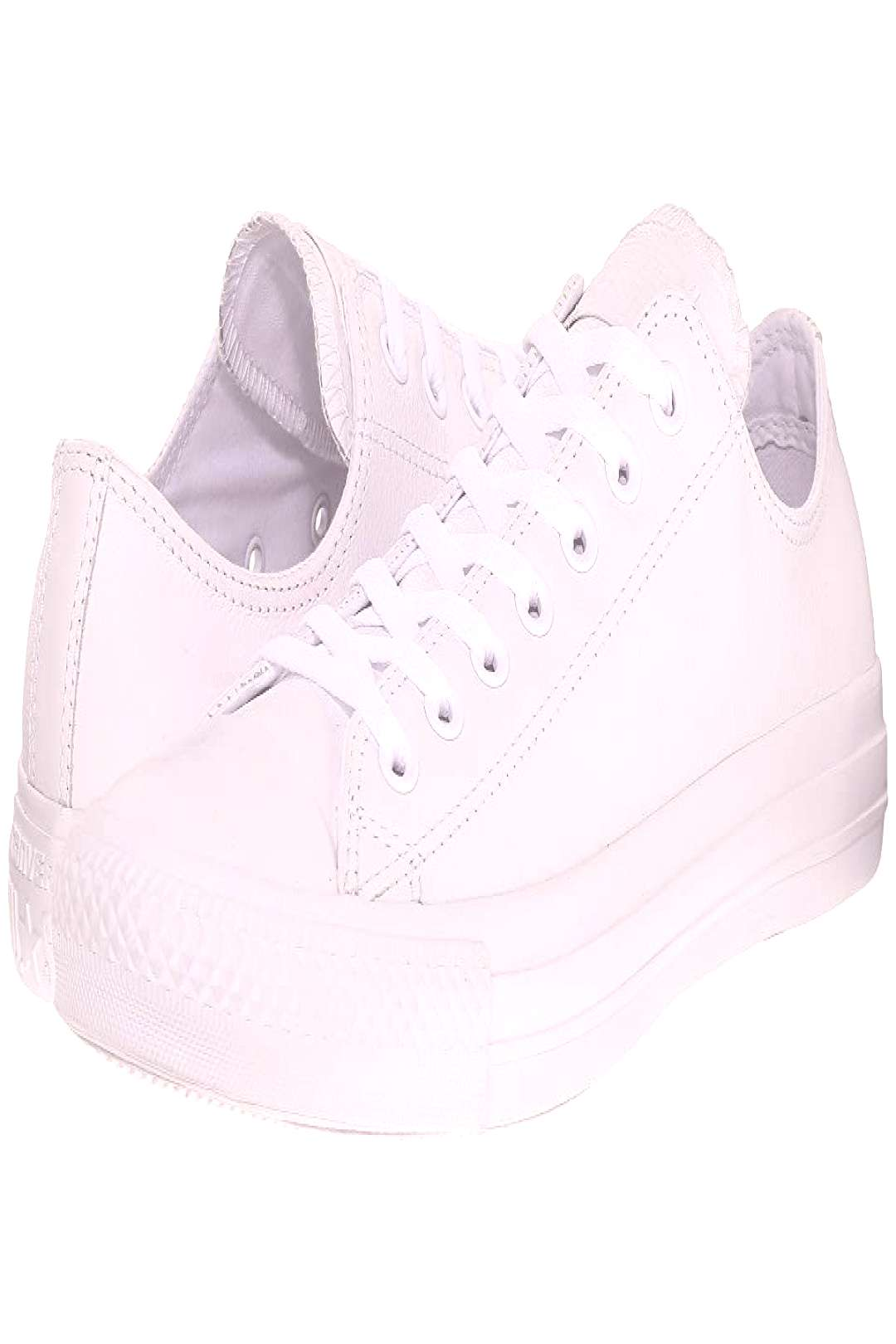 Converse Chuck Taylor(r) All Star(r) Leather Ox (White) Shoes. For men's sizes  please select a hal