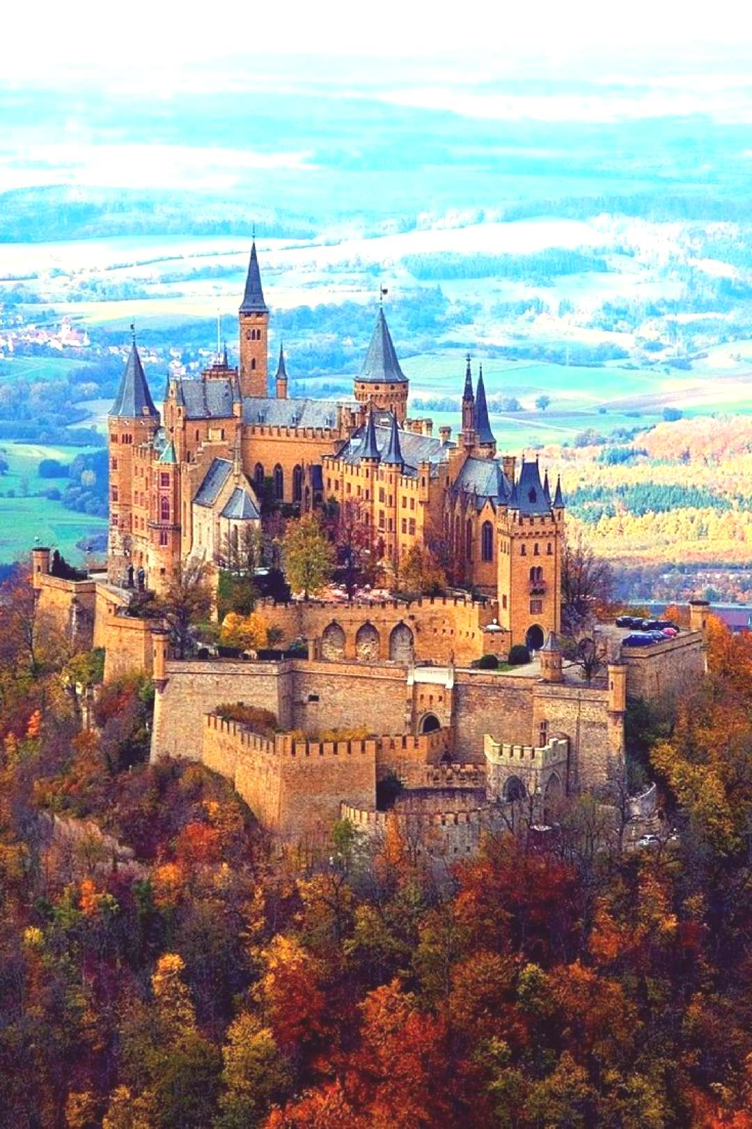 Hohenzollern Castle Hohenzollern Castle, Germany The ancestral seat of the Imperial House of Hohenz