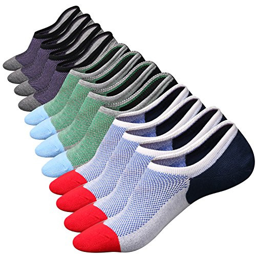 No Show Low Cut Socks Upgraded 6 Pairs Mens Casual Invisible