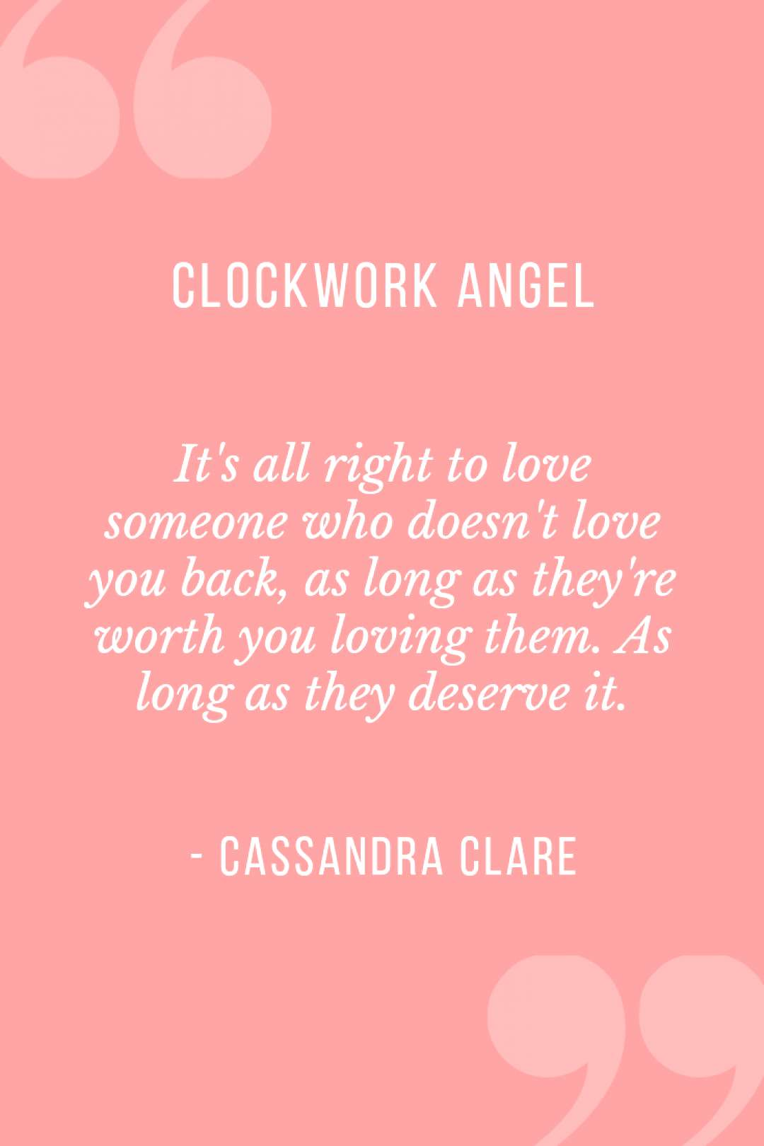 Quote from Clockwork Angel