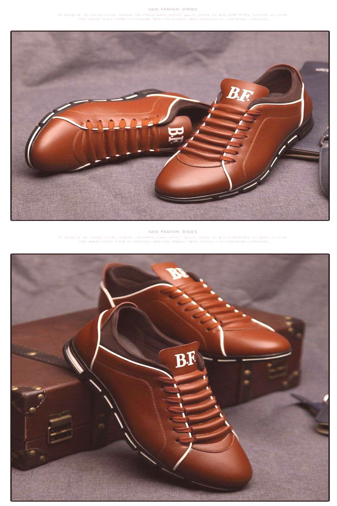 Shoes - New Casual Breathable Leather Shoes -