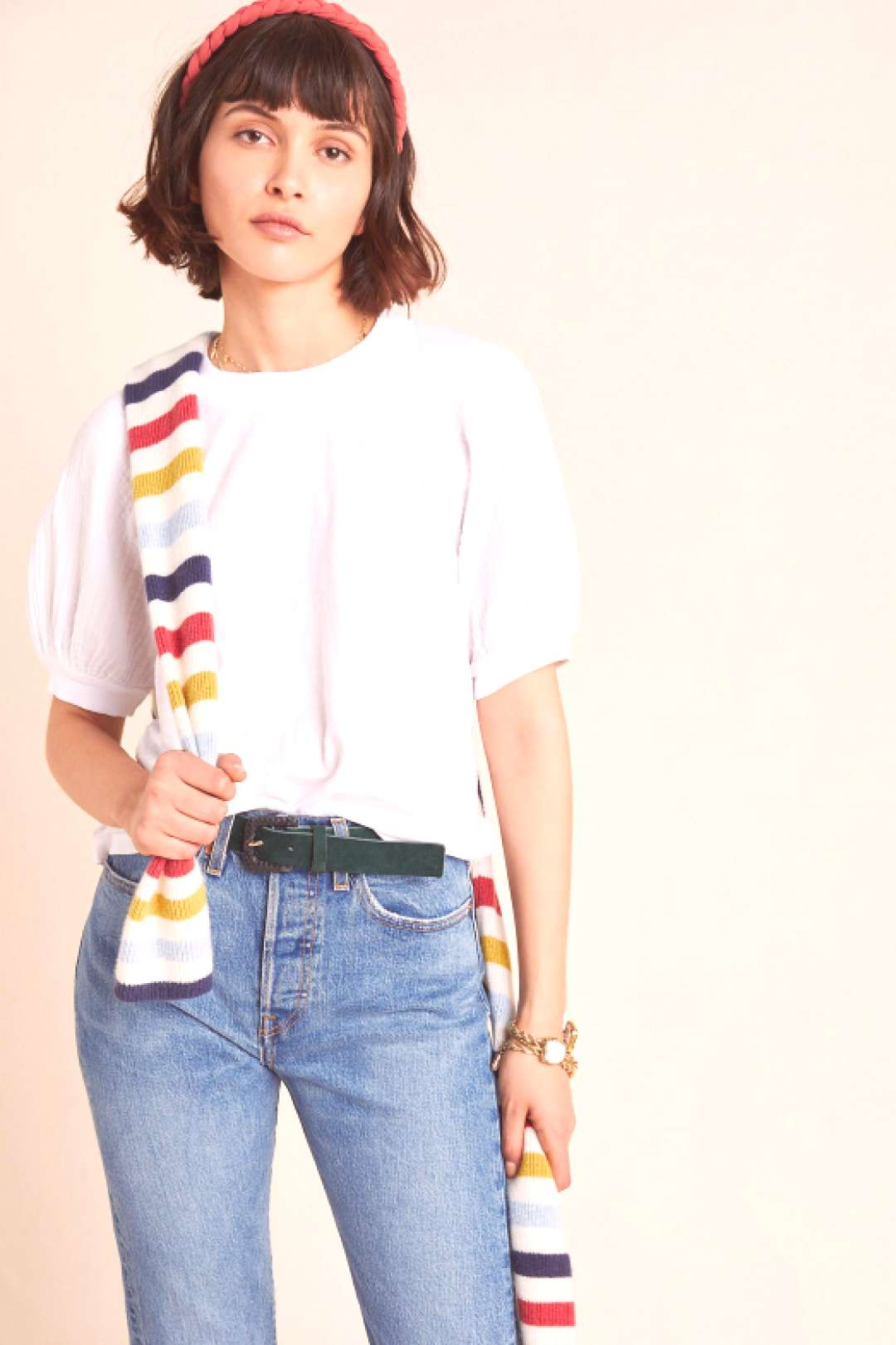 Stila Puff-Sleeved Top by Velvet Graham & Spencer in White Size: Xs Women's Tops at Anthropologie