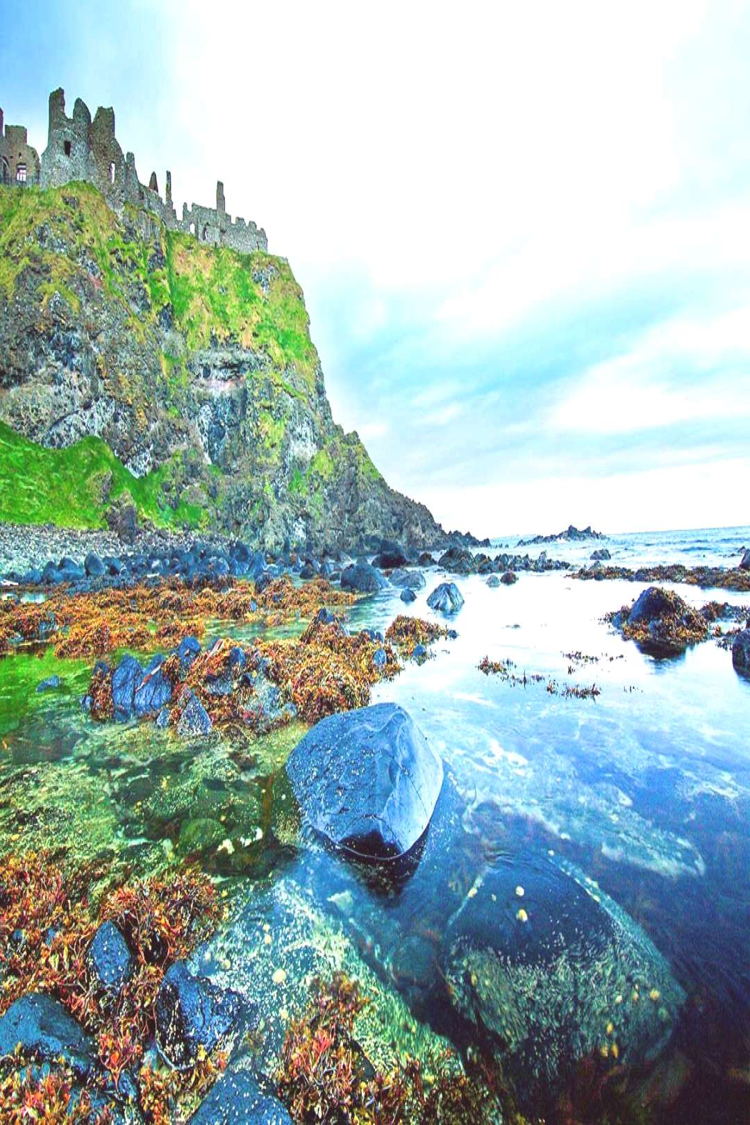 The mysterious Dunluce Castle Cliff in Northern Ireland.